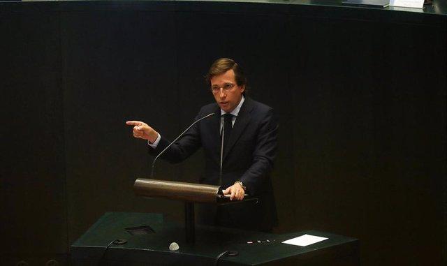 José Luis Martínez-Almeida en el Debate del estado de la Ciudad.