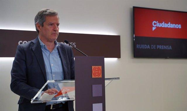 El líder de Cs en las Cortes de Aragón, Daniel Pérez Calvo.