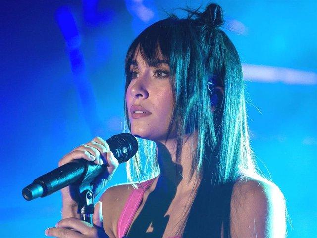 Aitana Ocaña, en los ensayos de su gira '11 Razones Tour'
