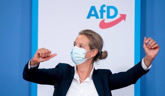 Archivo - Alice Weidel, líder del grupo parlamentario de Alternativa para Alemania.