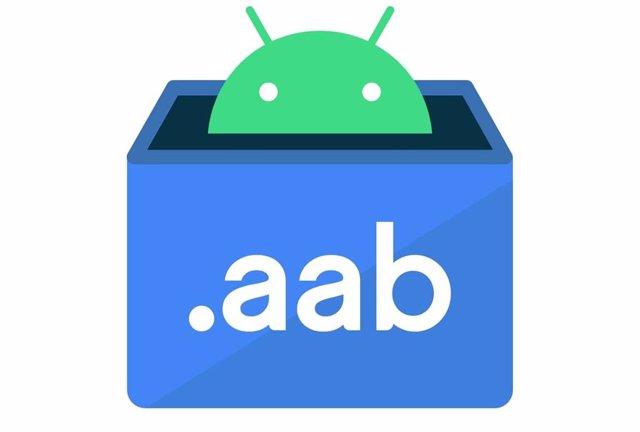 Logo del nuevo tipo de formato de aplicaciones Android App Bundle que sustituye a APK.