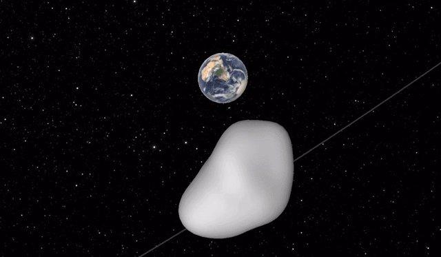 Archivo - Sobrevuelo de un asteroide por la Tierra