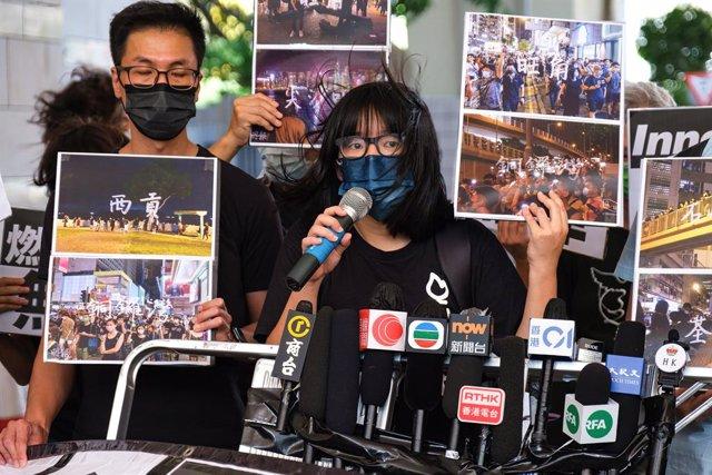 La activista hongkonesa Chow Hang Tung.