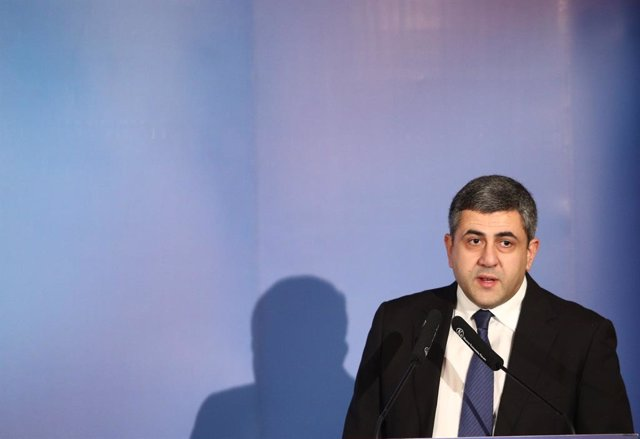 Archivo - El nuevo secretario general de la Organización Mundial del Turismo (OMT), Zurab Pololikashvili, interviene en el Foro España Internacional