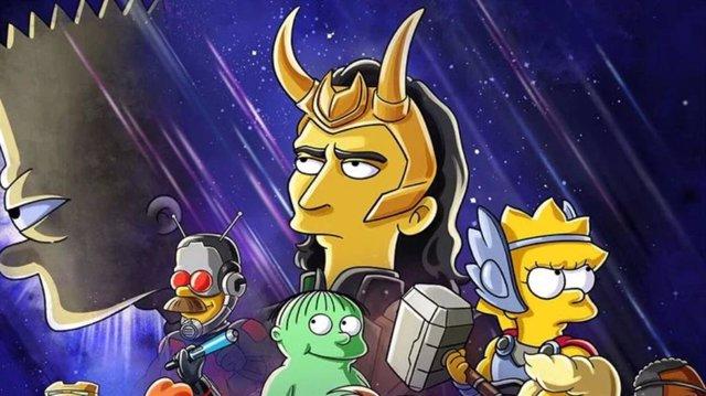 Los Simpson anuncian crossover con Loki en su nuevo corto de Disney+
