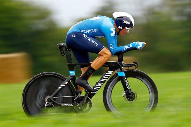 El ciclista español Enric Mas (Movistar Team)