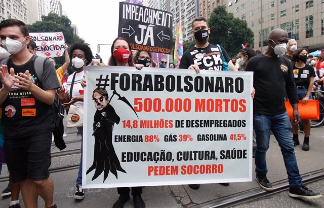 Imagen de archivo de las protestas contra Bolsonaro del pasado 19 de junio.