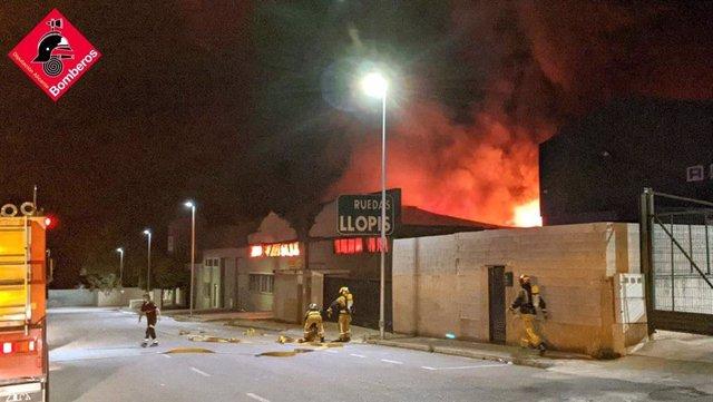Incendio industrial