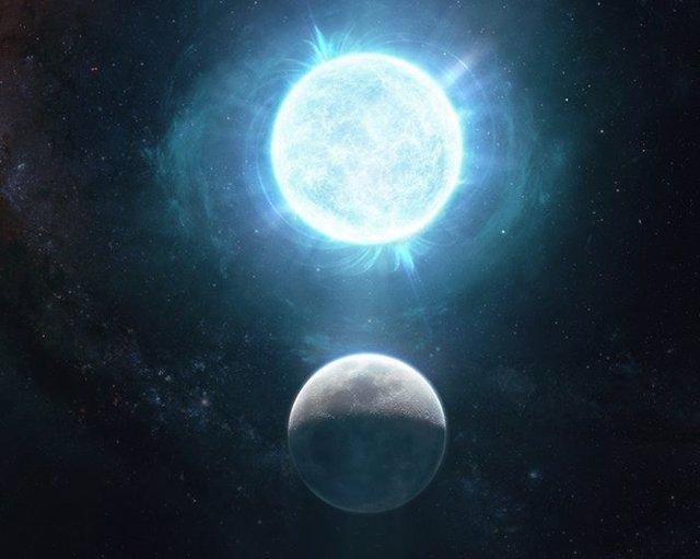 La enana blanca ZTF J1901 + 1458 tiene aproximadamente 2,670 millas de ancho, mientras que la luna tiene 2,174 millas de ancho.