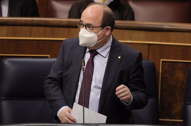 Archivo - Arxiu - El ministre de Política Territorial i Funció Pública, Miquel Iceta
