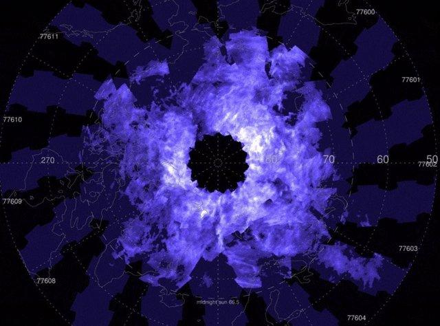 Estas imágenes AIM abarcan del 6 al 18 de junio de 2021, cuando la temporada de nubes noctilucentes del hemisferio norte estaba en marcha.