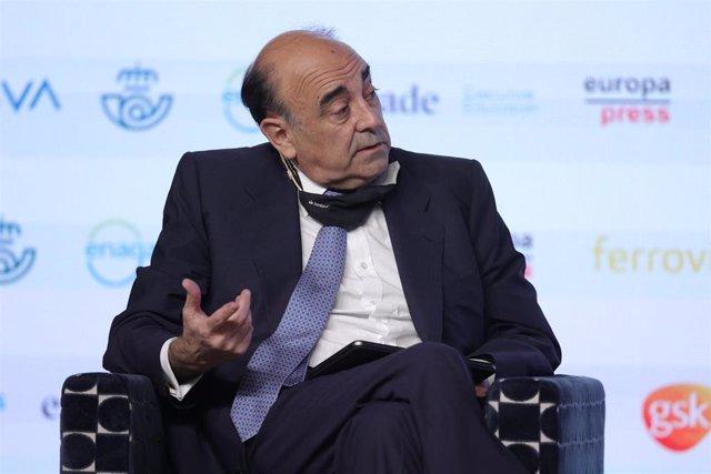 El presidente Santander España, Luis Isasi, interviene en la segunda mesa redonda 'Fortaleciendo el propósito de cambio' del proyecto  'Generación de oportunidades', organizado por Europa Press y McKinsey&Company