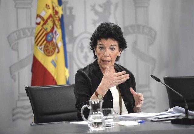Arxiu - La ministra d'Educació i Formació Professional, Isabel Celaá