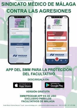 El Sindicato Médico de Málaga lanza una 'app' para mejorar la protección de los facultativos ante posibles agresiones