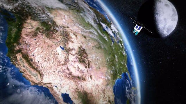 El Reloj Atómico del Espacio Profundo de la NASA ha estado operando a bordo del satélite General Atomics Orbital Test Bed desde Junio de 2019