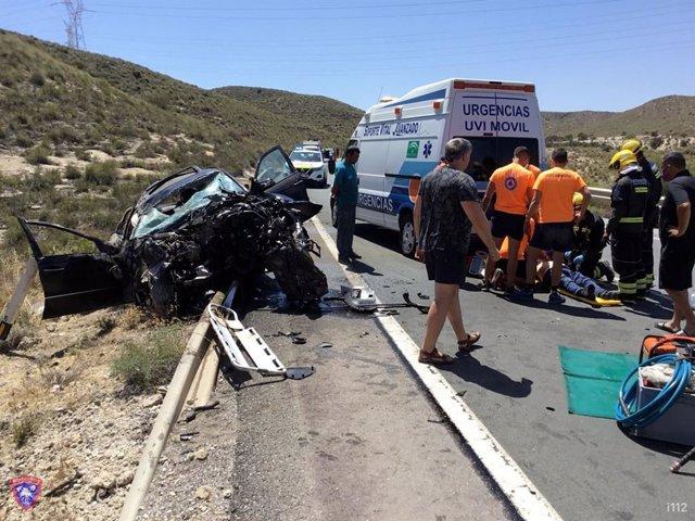 Siniestro de tráfico en Carboneras (Almería)