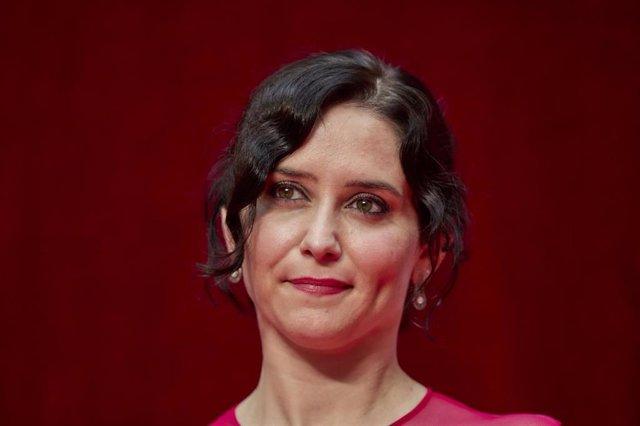 La presidenta de la Comunidad de Madrid, Isabel Díaz Ayuso, en el acto de toma de posesión como presidenta de la Comunidad de Madrid, en la Real Casa de Correos de la Puerta del Sol, a 19 de junio de 2021, en Madrid (España).