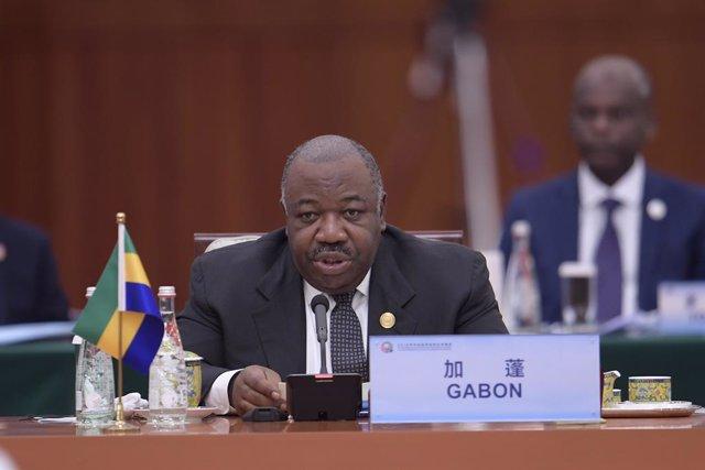 Archivo - El presidente de Gabón, Alí Bongo