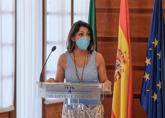 La presidenta del Parlamento de Andalucía, Marta Bosquet, en una imagen de archivo.