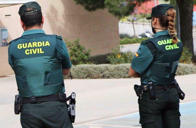 La Guardia Civil tras un operativo de auxilio