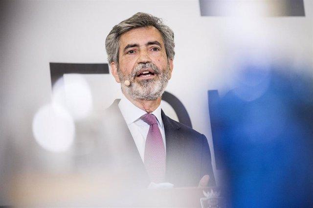 Archivo - El presidente del Tribunal Supremo y del Consejo General del Poder Judicial, Carlos Lesmes.