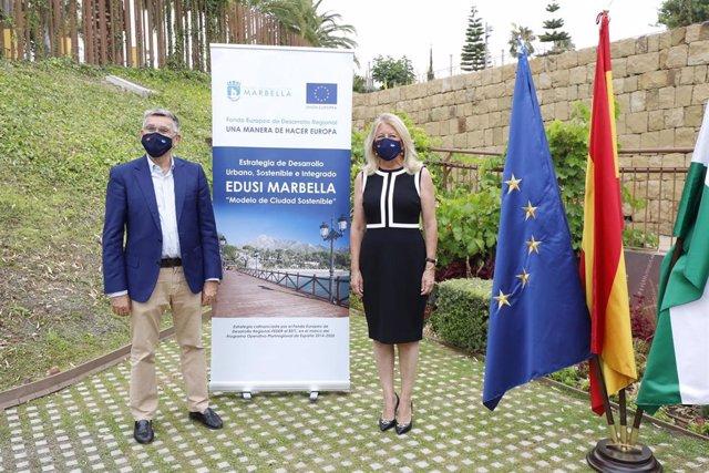 La alcaldesa de Marbella, Ángeles Muñoz, informa de los proyectos Edusi