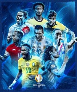 Cartel de los cuartos de final de la Copa América 2021 de fútbol, que arrancan el viernes y se disputan hasta el domingo