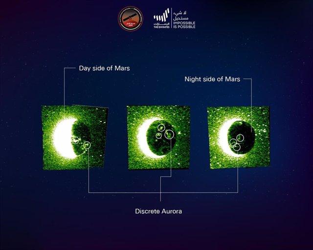 Auoras  en Marte