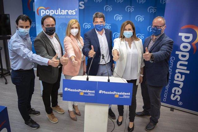 Archivo - Rueda de prensa de presentación de la candidatura de Carlos Mazón