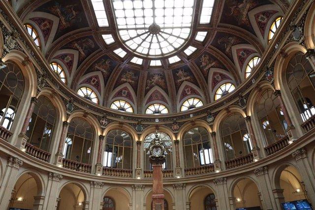 Interior del Palacio de la Bolsa de Madrid, a 30 de junio de 2021, en Madrid (España).