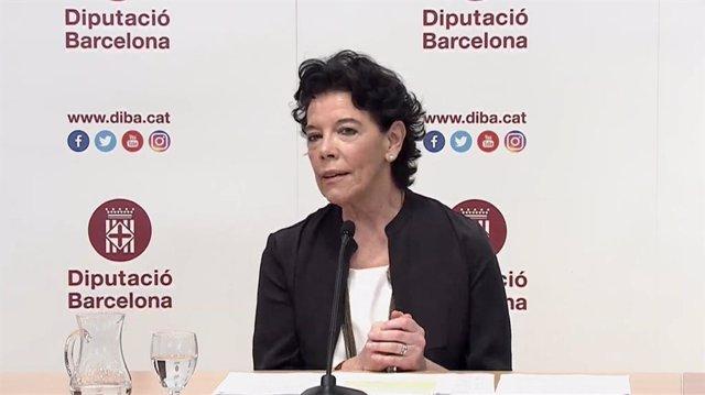La ministra de Educación y FP, Isabel Celaá, en la inauguración del seminario 'La LOMLOE: un paso adelante para la equidad, la calidad y la excelencia de la educación', organizado por la Diputación de Barcelona este jueves 1 de julio de 2021