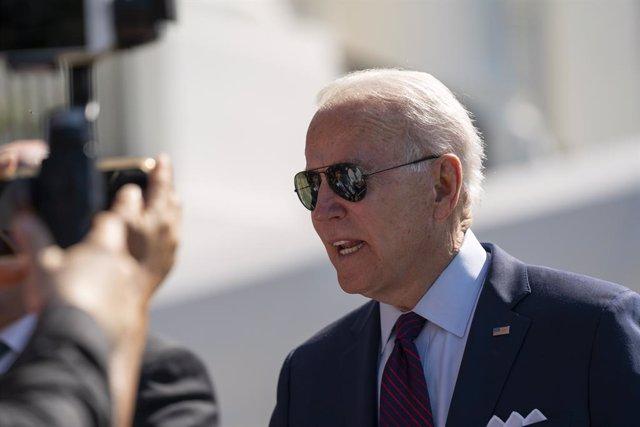 29 June 2021, US, Washington: USPresident Joe Biden speaks to journalists before departing from the South Lawn of the White House. Photo: Sait Serkan Gurbuz/ZUMA Wire/dpa