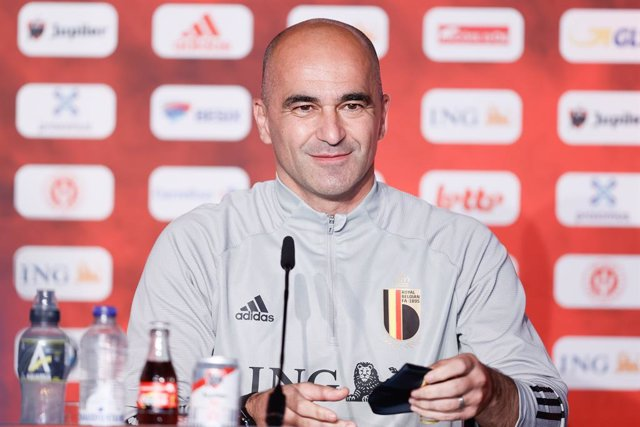 28 June 2021, Belgium, Tubize: Belgium's coach Roberto Martinez attends a press conference for the team ahead of Friday's UEFA EURO 2020 Quarter-Final soccer match against Italy. Photo: Bruno Fahy/BELGA/dpa