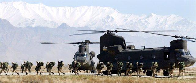 Archivo - Militares de EEUU en la base aérea de Bagram, en Afganistán