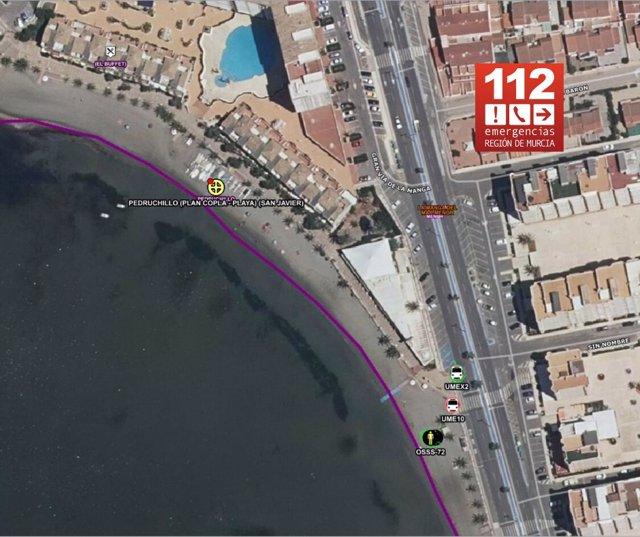 Lugar de los hechos, en una imagen por satélite
