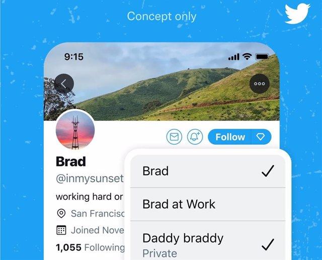 Función de 'facetas' de Twitter.