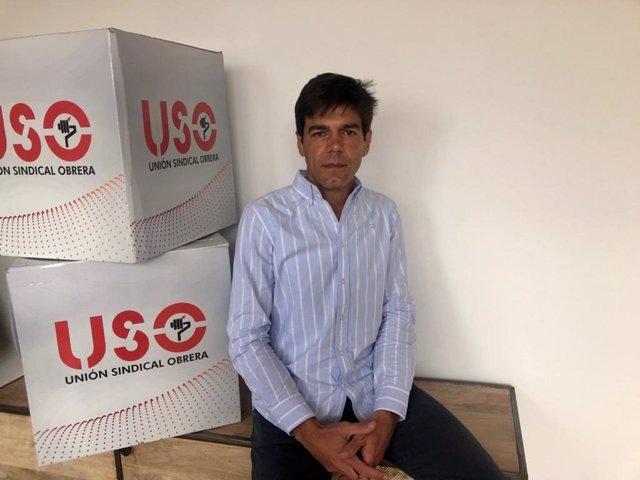 Archivo - El secretario general de USO, Joaquín Pérez
