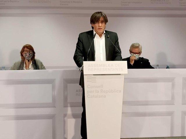 Archivo - Arxiu - L'expresident de la Generalitat i president del Consell per la República, Carles Puigdemont