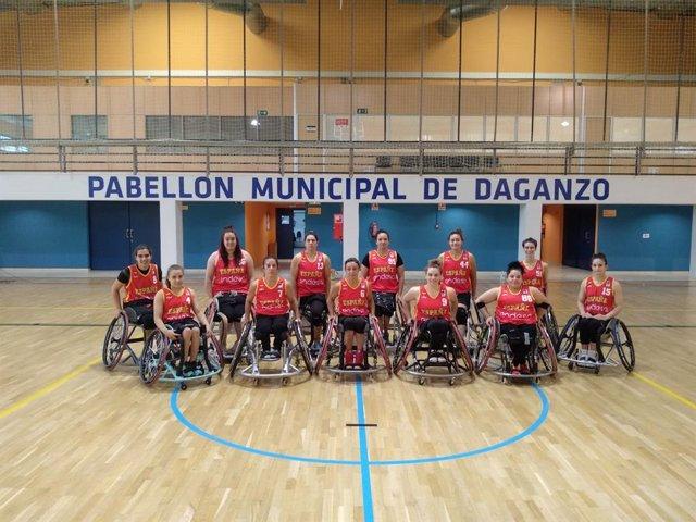 La selección española femenina de baloncesto en silla de ruedas