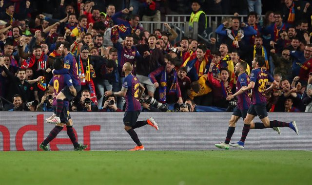Archivo - 01 May 2019, Spain, Barcelona: Barcelona's Lionel Messi celebrates scoring during the UEFA Champions League semi final first leg soccer match between FC Barcelona and Liverpool at the Camp Nou Stadium. Photo: Nick Potts/PA Wire/dpa