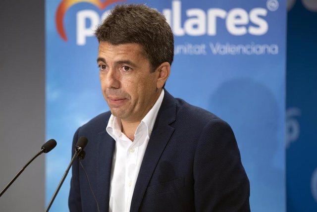 Archivo - El presidente del Partido Popular de la Provincia de Alicante, Carlos Mazón
