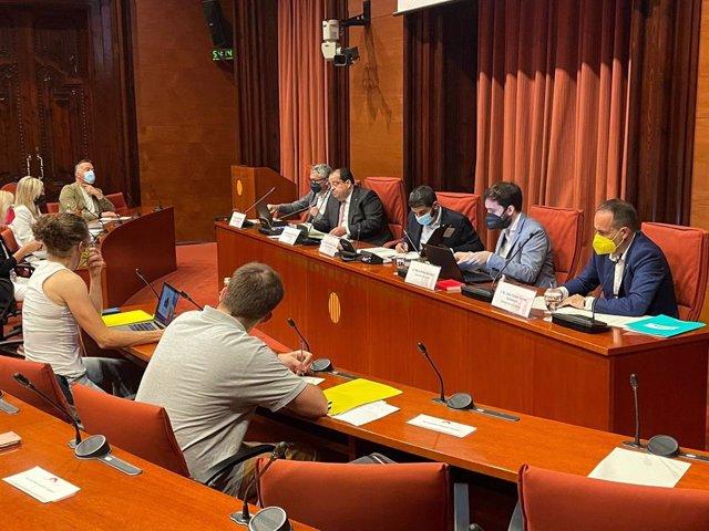 Comissió d'Interior al Parlament, 2 de juliol de 2021