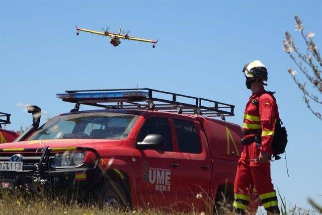 Medio centenar de militares de la UME se unen a la campaña 'Lucha contra Incendios Forestales' en Andalucía