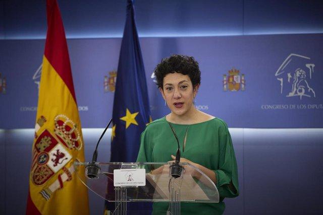 Archivo - La portavoz parlamentaria de Unidas Podemos, Aina Vidal, interviene en una rueda de prensa anterior a una Junta de Portavoces, a 11 de mayo de 2021, en el Congreso de los Diputados, Madrid, (España).