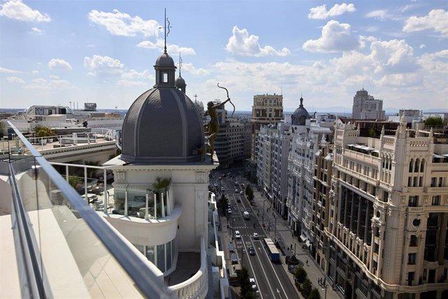 Vistas de la Gran Vía de Madrid.