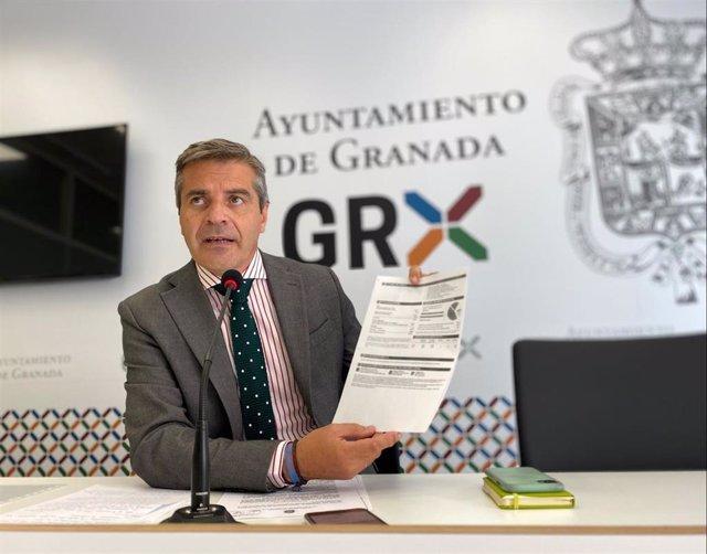 El portavoz del PP en el Ayuntamiento de Granada, César Díaz, en una  imagen de archivo.