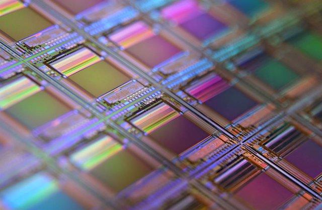 Oblea de semiconductores.