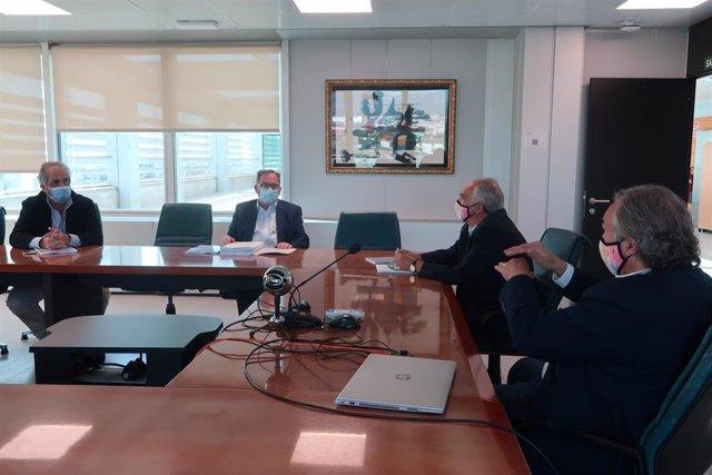 Reunión entre March y los ex consellers de Educación Francesc Fiol y Rafel Bosch.