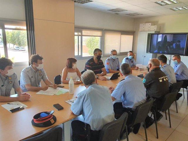 Reunión de coordinación operativa de la campaña forestal en Lleida.