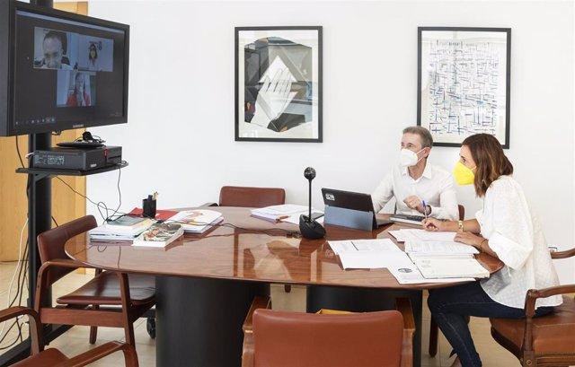 La Consejera De Presidencia, Interior, Justicia Y Acción Exterior, Paula Fernández, Mantiene Una Reunión Con Miembros De La Administración Del Estado Para Abordar Los Proyectos De Digitalización De La Administración